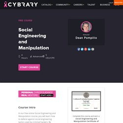 Free Online Social Engineering and Manpulation Training Class from Cybrary