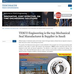 TESCO Engineering is the top Mechanical Seal Manufacturer & Supplier in Saudi