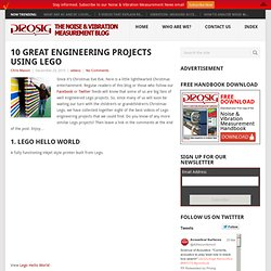 10 Great Engineering Projects Using Lego | Prosig Noise & Vibration Measurement Blog