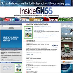Inside GNSS | Engineering Solutions from the Global Navigation S