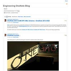 Daniel Escapa's OneNote Blog