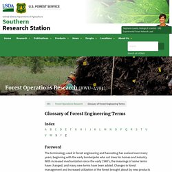 Glossary of Forest Engineering Terms