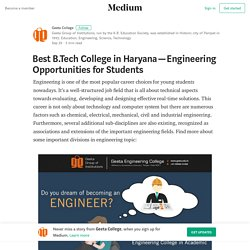 Best B.Tech College in Haryana — Engineering Opportunities for Students