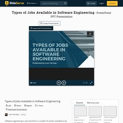 Types of Jobs Available in Software Engineering
