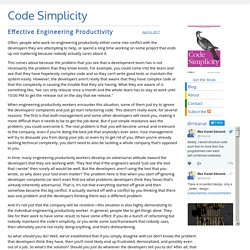 Code Simplicity » Effective Engineering Productivity