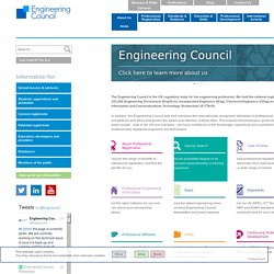 Engineering Council - recognising professional excellence - Engineering Council Home