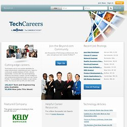 IT Jobs, Engineering Jobs and Career Resources for IT and Engineering Professionals - Techcareers.com