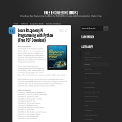 FREE ENGINEERING BOOKS: Learn Raspberry Pi Programming with Python (Free PDF Download)