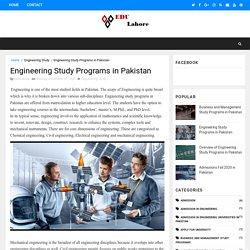 Engineering Study Programs in Pakistan - The Best Education Programs