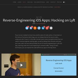 Reverse-Engineering iOS Apps: Hacking on Lyft, with Conrad Kramer