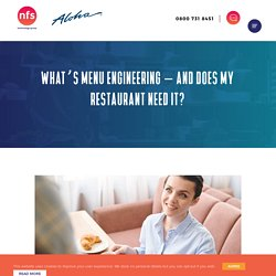 What's menu engineering – and does my restaurant really need it?