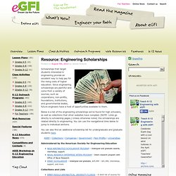 Resource: Engineering Scholarships