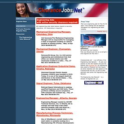 Clearance Jobs.net