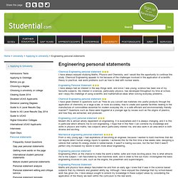 personal statement engineering management