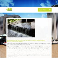 ENGINEERING FIRM DISCUSSES THE DIFFERENT STORMWATER MANAGEMENT STRUCTURES CITIES CAN BUILD