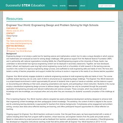 Engineer Your World: Engineering Design and Problem Solving for High Schools