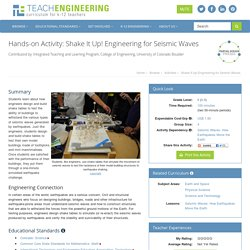 Shake It Up! Engineering for Seismic Waves