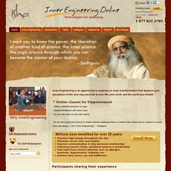 Isha Inner Engineering Online - Technologies for Wellbeing