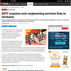 KPIT acquires auto engineering services firm in Germany, Technology News, ETtech