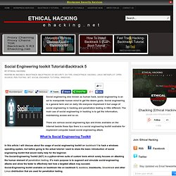 Social Engineering toolkit Tutorial-Backtrack 5 | Ethical Hacking-Your Way To The World OF IT Security