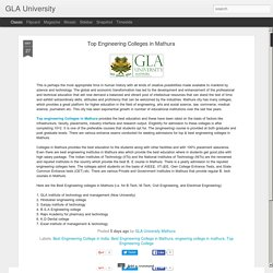 GLA University: Top Engineering Colleges in Mathura