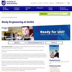 Study Engineering at UniSA