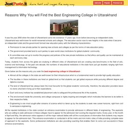 Reasons Why You will Find the Best Engineering College in Uttarakhand