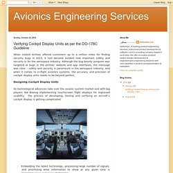 Avionics Engineering Services: Verifying Cockpit Display Units as per the DO-178C Guideline