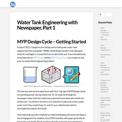 Water Tank Engineering with Newspaper, Part 1 - Vista Think
