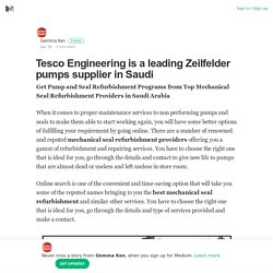 Tesco Engineering is a leading Zeilfelder pumps supplier in Saudi