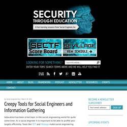 Creepy Tools for Social Engineers and Information Gathering