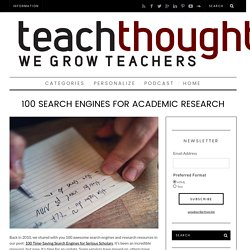100 Search Engines For Academic Research