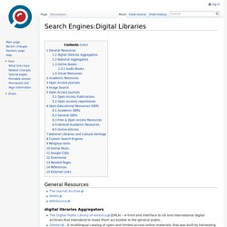 Search Engines:Digital Libraries