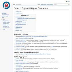 Search Engines:Higher Education - Topical Search Wiki
