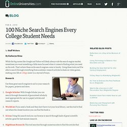 100 Niche Search Engines Every College Student Needs