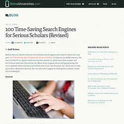 100 Time-Saving Search Engines for Serious Scholars (Revised)