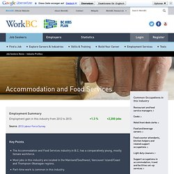 Accommodation and Food Service Stats in BC
