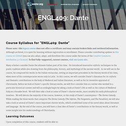 ENGL409: Dante