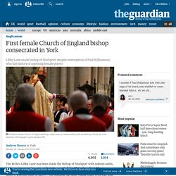 First female Church of England bishop consecrated in York