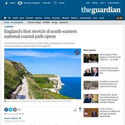 England's first stretch of south-eastern national coastal path opens