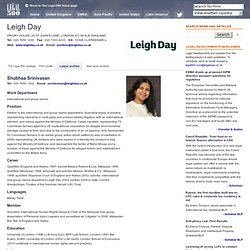The Legal 500 > Leigh Day > London, ENGLAND > Lawyer profiles > Shubhaa Srinivasan