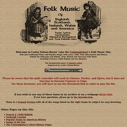 Folk Music of England, Scotland, Ireland, Wales and America
