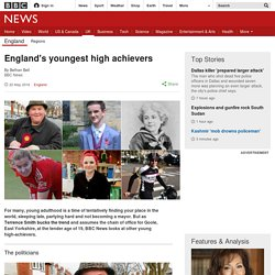 England's youngest high achievers