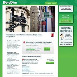 Opi englantia netissä - WordDiven englannin kielikurssit
