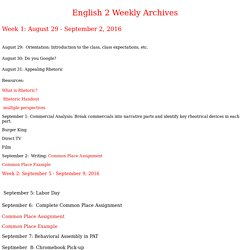 English 2 Weekly Archives