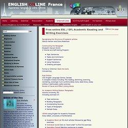Efl academic writing exercises