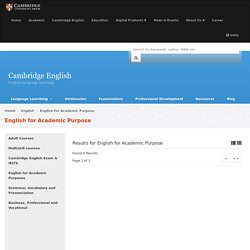 English for Academic Purpose