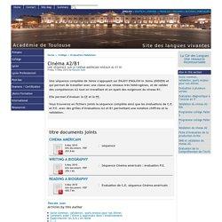Cinéma A2/B1 - [English website of the Académie de Toulouse]