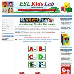 English for Kids,ESL Kids Alphabet and Phonics Flashcards