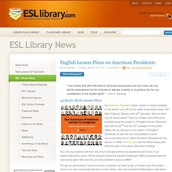 English Lesson Plans on American Presidents